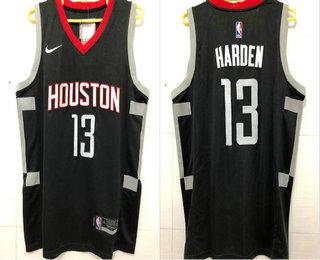 25996ff8d Men s Houston Rockets  13 James Harden New Black 2017-2018 Nike AU Stitched  NBA