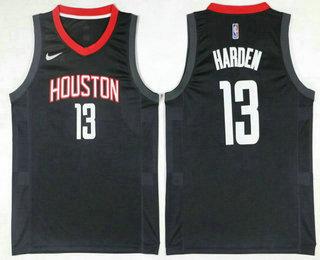 Men s Houston Rockets  13 James Harden Black 2017-2018 Nike Icon Edition Swingman  Jersey be0787413