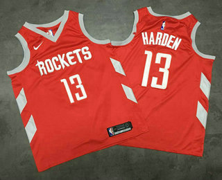 35c0612937b Men s Houston Rockets  13 James Harden New Red 2017-2018 Nike AU Stitched  NBA