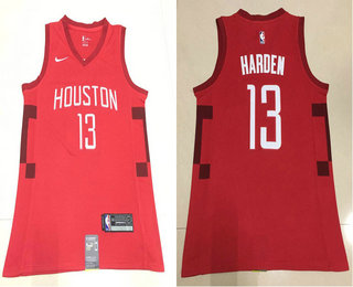 new style 11b60 53581 Men's Houston Rockets #13 James Harden Red Nike Swingman ...