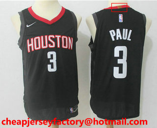 Men s Houston Rockets  3 Chris Paul New Black 2017-2018 Nike Authentic  Stitched NBA 22db9343f