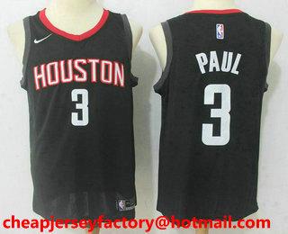 huge discount bb2bf 707a7 Men's Houston Rockets #13 James Harden Black 2017-2018 Nike ...