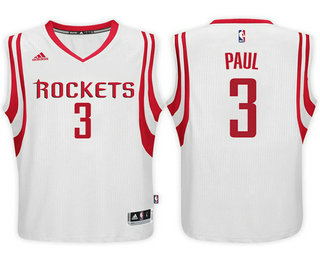 Men s Houston Rockets  3 Chris Paul White Stitched NBA Swingman Jersey 79bd48389