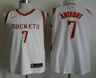 Men s Houston Rockets  7 Carmelo Anthony New White 2017-2018 Nike Authentic  Stitched NBA 1ad0c39e6