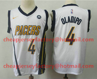low priced 6e7aa 389b0 Men's Indiana Pacers #4 Victor Oladipo Gray Nike 2019 New ...