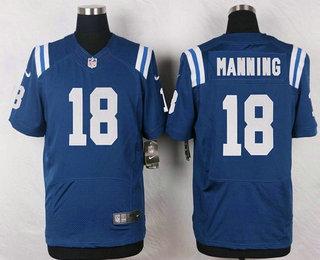 d40af990230 ... white elite jersey Mens Indianapolis Colts 18 Peyton Manning Royal Blue Retired  Player NFL Nike Elite Jersey ...