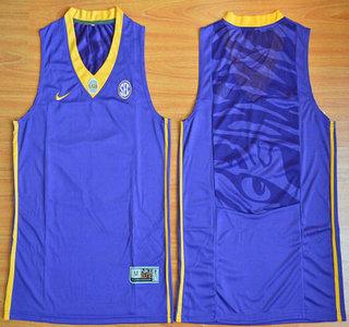 ae58fb8b98b Men's LSU Tigers #5 Derrius Guice Purple Limited College Football ...