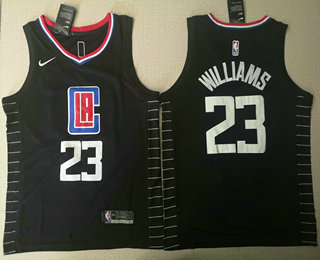 reputable site e0dd9 cc893 Men's Los Angeles Clippers #23 Lou Williams Navy Blue Nike ...