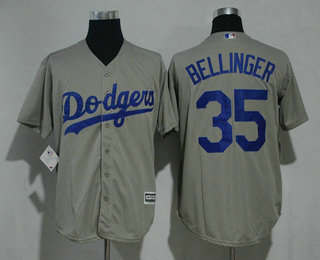 8510961c4 Men s Los Angeles Dodgers  35 Cody Bellinger Gray Alternate Stitched MLB Cool  Base Jersey