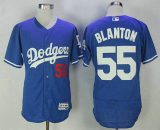 5ff42f6de Men s Los Angeles Dodgers  55 Joe Blanton Royal Blue Stitched MLB Flex Base  Jersey