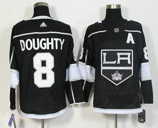 386772b2c Men's Los Angeles Kings #8 Drew Doughty Black 2017-2018 Hockey Stitched NHL  Jersey