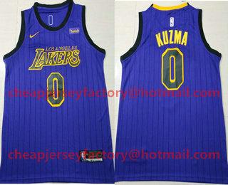 c6afab3b379 Men s Los Angeles Lakers  0 Kyle Kuzma NEW Purple 2019 Nike City Edition  Swingman Wish