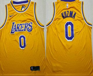 c58c64ec766 Men s Los Angeles Lakers  0 Kyle Kuzma Yellow 2018-2019 Nike Swingman  Stitched NBA Jersey