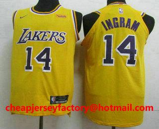 competitive price 0326c 03483 Men's Los Angeles Lakers #14 Brandon Ingram New Purple 2019 ...