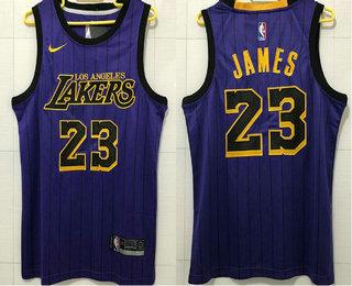 c2ba92873c8 Men s Los Angeles Lakers  23 LeBron James NEW Purple 2019 Nike City Edition  AU ALL
