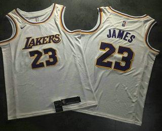 85ccc66fc25 Men s Los Angeles Lakers  23 LeBron James White 2019 Nike AU Swingman ALL  Stitched NBA Jersey