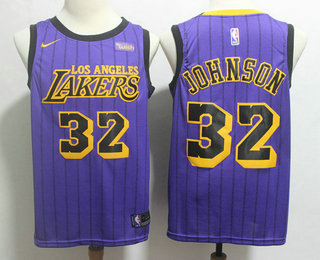 reputable site f4591 234b9 Men's Los Angeles Lakers #23 LeBron James NEW Purple 2019 ...