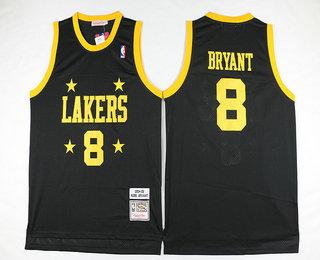 8b60b510b Men s Los Angeles Lakers  8 Kobe Bryant 2004-05 Black Hardwood Classics  Soul Swingman