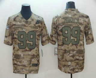 ef86bea9d Men s Los Angeles Rams  99 Aaron Donald 2018 Camo Salute to Service Stitched  NFL Nike
