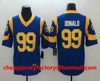 ac7a3af4c Men s Los Angeles Rams  99 Aaron Donald Royal Blue 2017 Vapor Untouchable Stitched  NFL Nike