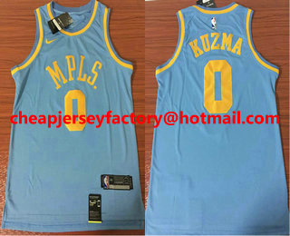 newest collection fe530 2008a Men's MPLS. #2 Lonzo Ball New Light Blue 2017-2018 Nike ...