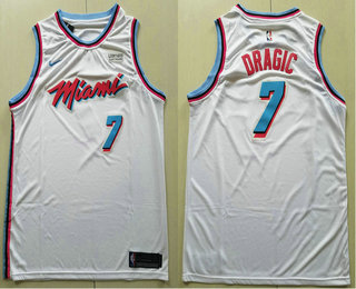 f0a0bcc8c1e Men s Miami Heat  7 Goran Dragic White 2017-2018 Ultimate Software Stitched City  Edition