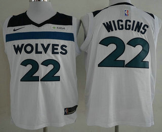 Men s Minnesota Timberwolves  22 Andrew Wiggins New White 2017-2018 Nike  Authentic Fitbit Stitched c25c1aff2