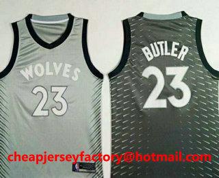 Men s Minnesota Timberwolves  23 Jimmy Butler Grey 2017-18 Nike City  Edition Swingman Jersey fadcb05c6