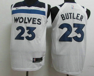 b75a69d9d5b2 Men s Minnesota Timberwolves  23 Jimmy Butler New White 2017-2018 Nike  Authentic Fitbit Stitched NBA Jersey