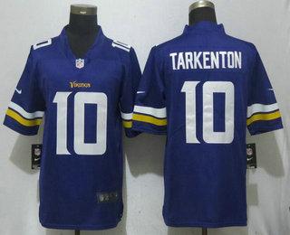 Men s Minnesota Vikings  10 Fran Tarkenton Purple 2017 Vapor Untouchable  Stitched NFL Nike Limited Jersey a13c74a47