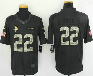 bd4e52c1d ... Color Rush Stitched NFL Nike Limited Jersey   21. Men s Minnesota  Vikings  22 Harrison Smith Black Anthracite 2016 Salute To Service Stitched  NFL Nike