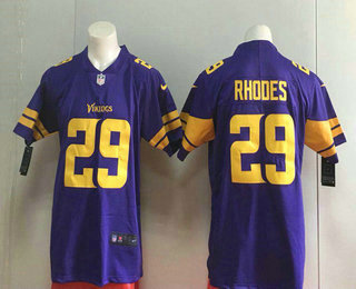 Men s Minnesota Vikings  29 Xavier Rhodes Purple 2016 Color Rush Stitched NFL  Nike Limited Jersey 94c218f60