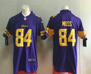 2596d3c2 Men's Minnesota Vikings #84 Randy Moss Purple 2016 Color Rush Stitched NFL  Nike Limited Jersey