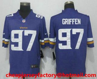 cc3d02514 Men s Minnesota Vikings  97 Everson Griffen Purple 2017 Vapor Untouchable  Stitched NFL Nike Limited Jersey