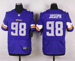 Men s Minnesota Vikings  98 Linval Joseph Purple Team Color NFL Nike Elite  Jersey 164e5d673