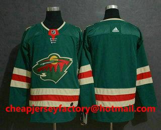 3353cee3367 Men s Minnesota Wild Blank Green Drift Fashion Adidas Stitched NHL Jersey