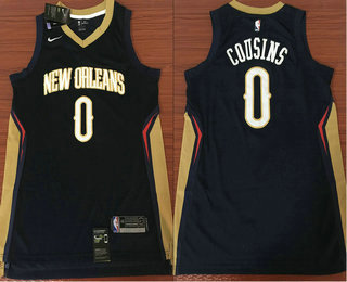 587f41f30dd Men s New Orleans Pelicans  0 DeMarcus Cousins New Navy Blue 2017-2018 Nike  Swingman
