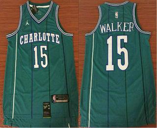 Men s New Orleans Pelicans  15 Kemba Walker Green 2017-2018 Swingman  Stitched NBA Jersey a59c2517c