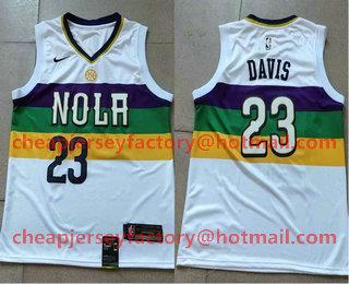 Men s New Orleans Pelicans  23 Anthony Davis White Nike 2019 New Season Swingman  City Edition 2877eb1ee