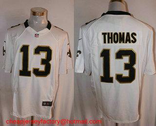a3c5d741a Men s New Orleans Saints  13 Michael Thomas White Road NFL Nike Game Jersey