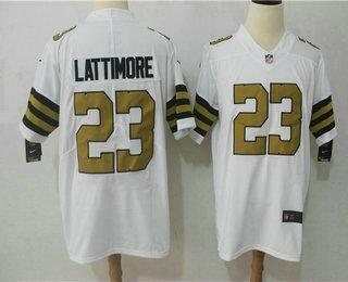 Men s New Orleans Saints  23 Marshon Lattimore White 2016 Color Rush  Stitched NFL Nike Limited 44c1b54c8