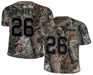 b8cf3f82539 Men s New York Giants  26 Saquon Barkley Camo Stitched NFL Rush Realtree Nike  Limited Jersey