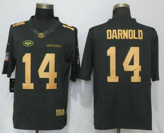 ... Nike Limited Jersey   21.5. Men s New York Jets  14 Sam Darnold  Anthracite Gold 2018 Salute To Service Stitched NFL dcddd60fb
