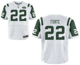 Men's New York Jets #22 Matt Forte White Road NFL Nike Elite Jersey  hot sale