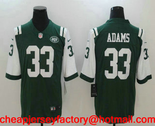 f5c6c1a66a6 ... Jersey Mens New York Jets 33 Jamal Adams Green 2017 Vapor Untouchable  Stitched NFL Nike Limited ...