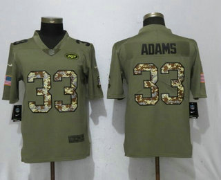 0ae972eb7 ... Nike Limited Jersey   21.5. Men s New York Jets  33 Jamal Adams Olive  With Camo 2017 Salute To Service Stitched