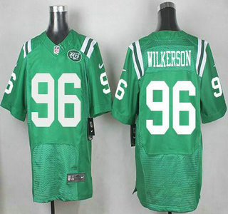 cfc3412bc14 Mens New York Jets 96 Muhammad Wilkerson Nike Kelly Green Color Rush 2015  NFL Elite Nike New York Jets Jersey 12 Joe Namath ...
