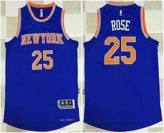 ... Mens New York Knicks 25 Derrick Rose Blue AU Soul Swingman Jersey ... de3186899