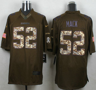 mens oakland raiders 52 khalil mack green salute to service 2015 nfl nike limited jersey