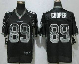 e78043a75 Men s Oakland Raiders  89 Amari Cooper Black Drift Stitched NFL Nike  Fashion Jersey